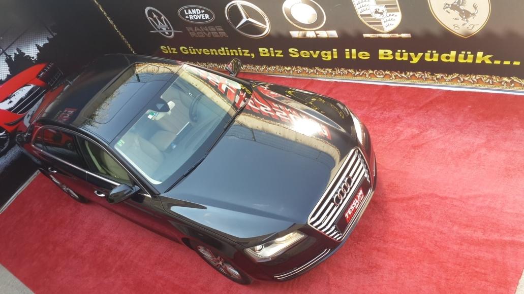 2012 model siyah Audi A8 Long 3.0 TDI